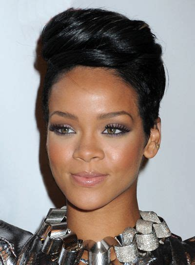 updo hairstyl for triangle face rihanna updo hairstyles for diamond face and makeup