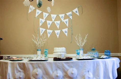 Snowflake Baby Shower Ideas by Winter Snowflake Baby Shower Ideas Photo 1 Of 26 Catch