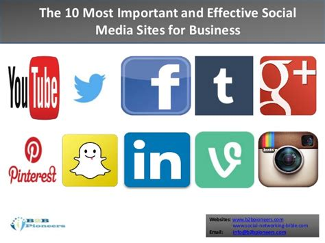 top websites the top 10 social media for business