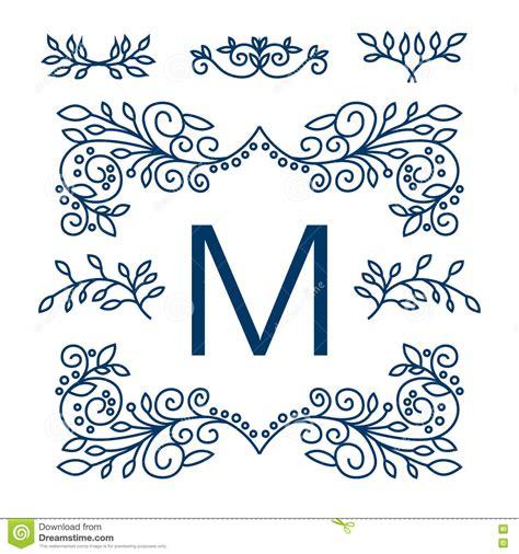 good page layout design elements big vector set of line floral design elements for logos