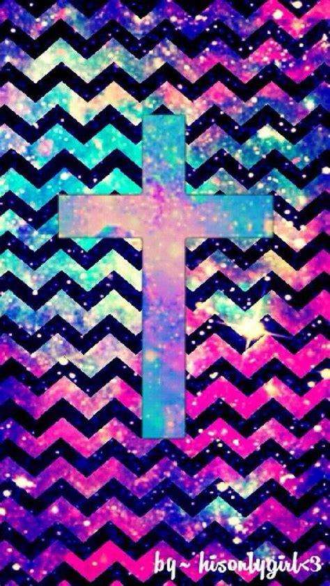girly cross wallpaper chevron galaxy cross easter wallpaper pinterest