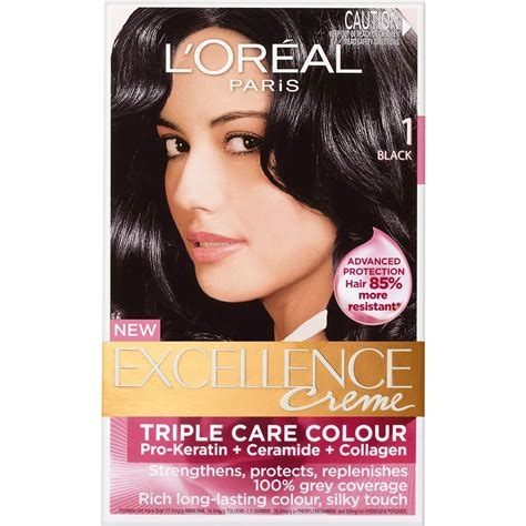 Loreal Black l oreal excellence cr 232 me 1 black 1pk woolworths