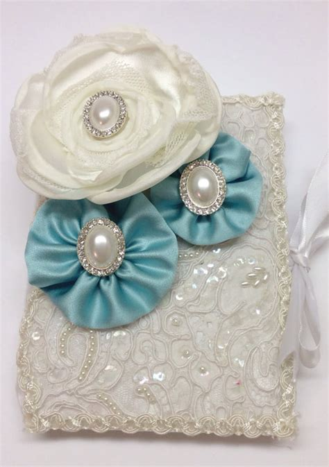 Wedding Bible And Rosary by Lace Wedding Bible And Rosary Aqua Blue