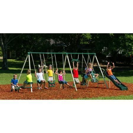 swing set metal frame deluxe trapeze swing big adventure metal swing set steel