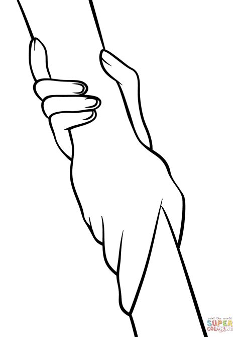 helping hands coloring pages coloring pages