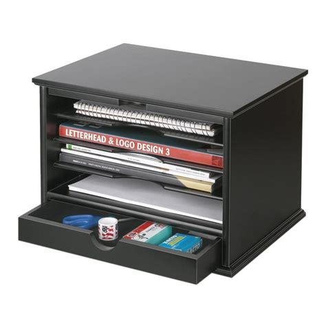 Victor 4 Shelf Desktop Organizer Black 4720 5 The Home Desk Shelf Organizer