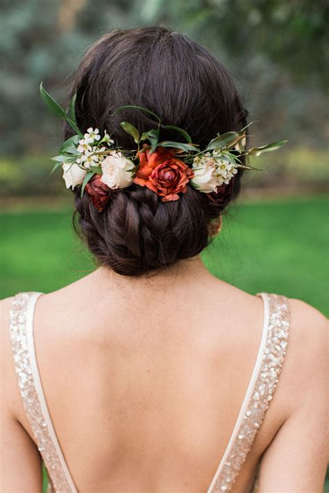 Wedding Hair Updo With Flower by 20 Gorgeous Wedding Hairstyles With Flowers Everafterguide