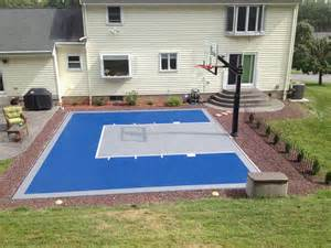 Diy backyard basketball court pictures to pin on pinterest