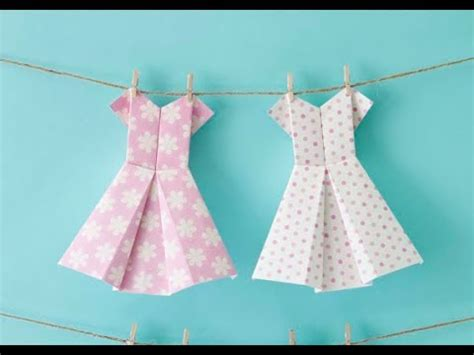 Origami Paper Dress - how to make an origami dress craft tutorial