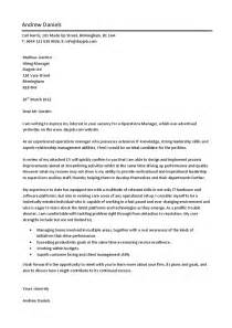 C Supervisor Cover Letter by Operations Manager Cover Letter Hashdoc