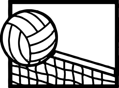 net animation coloring page vector of a cartoon boy hitting volleyball cartoon