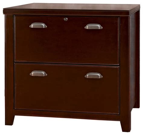 Cherry Lateral File Cabinet 2 Drawer Tribeca Loft Cherry 2 Drawer Lateral File Cabinet Traditional Filing Cabinets By Martin