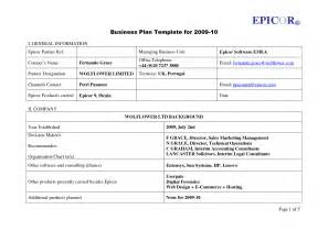 business plan templates free business plan template uk free free business template