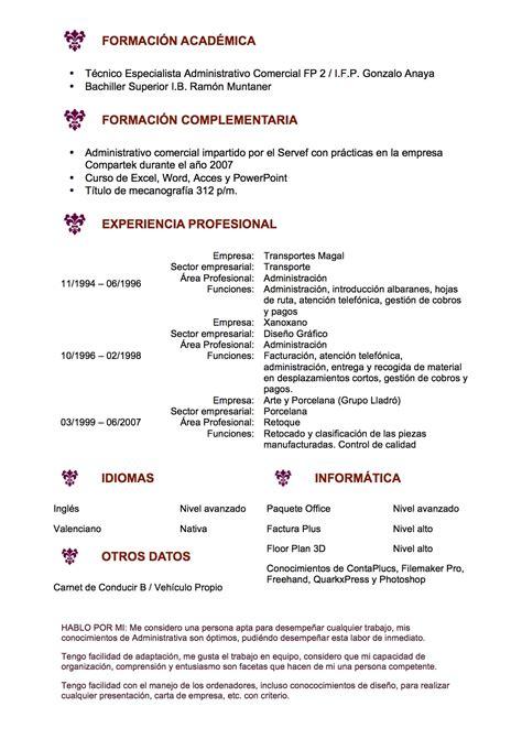 Modelo De Curriculum Vitae Para Ventas curriculum vitae modelo flor de lys tienda de