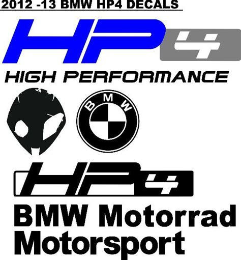 Bmw Motorrad Motorsport Decals by Decals Graphics Sticker Kits For Bmw S1000rr Hp4