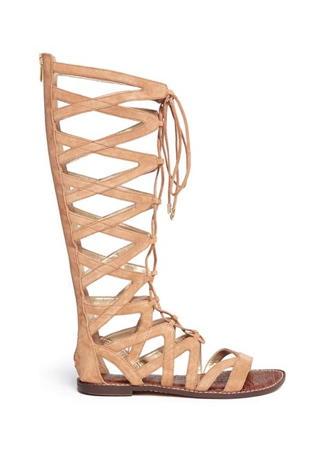gladiator sandals lace up sam edelman gena lace up suede gladiator sandals in