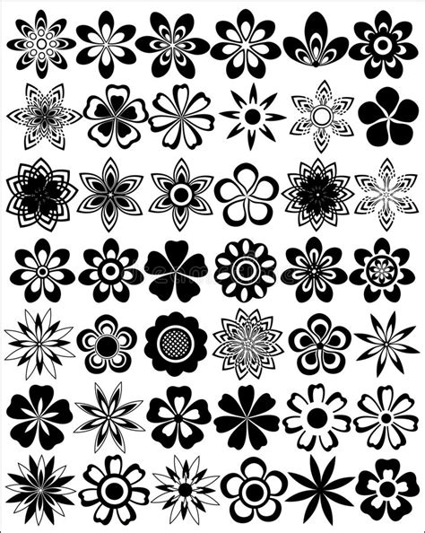 set of floral vector patterns royalty free stock images image 20201649 set of flowers stock vector illustration of cover accent 2384028