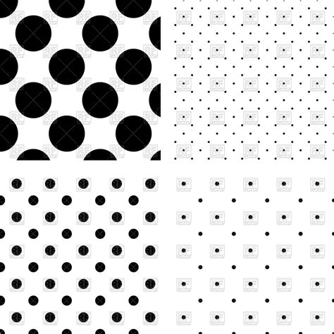 polka dot pattern vector free black and white polka dot seamless patterns royalty free