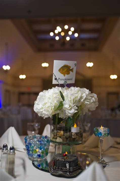 best 25 fish wedding centerpieces ideas on