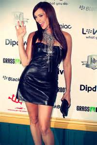 jessica sutta at first annual data awards leather