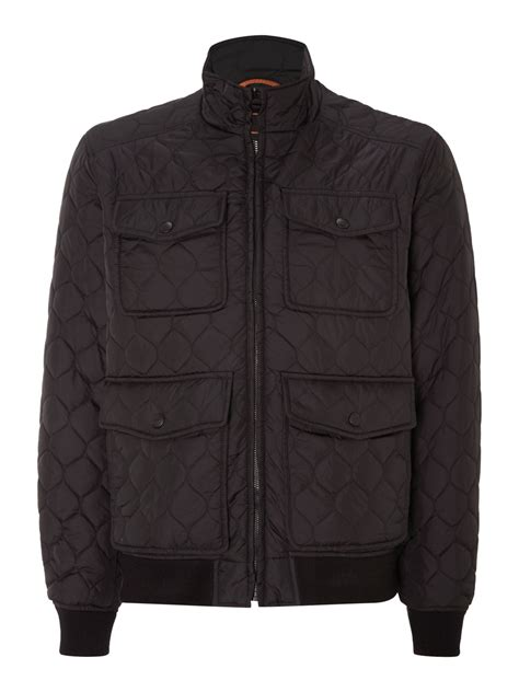 Black Quilted Bomber Jacket by Dockers Quilted Bomber Jacket In Black For Lyst
