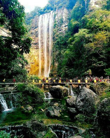 baiguoshu waterfall yichang china top tips