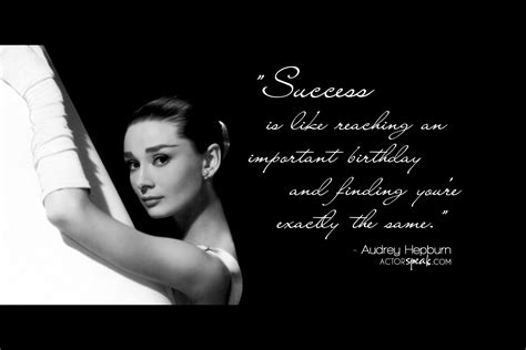 Hepburn Also Search For Hepburn Quotes About Success Quotesgram