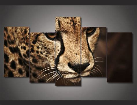 cheetah print home decor frame canvas prints cheetah tiger wall painting art