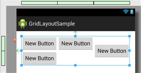 android studio layout manager using the android gridlayout manager in android studio