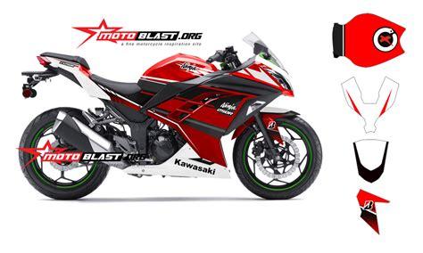 Kaos 250 Fi Terbaru modif striping kawasaki 250r fi merah terbaru motoblast motoblast