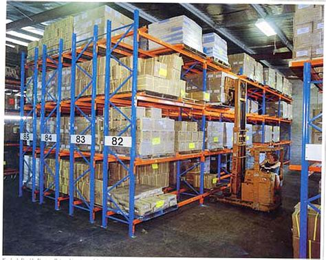 3d storage double deep racking method of arranging pallets in the warehouse warehouse