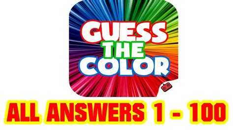 guess the color answers guess the color all level answers 1 100 goxal studios
