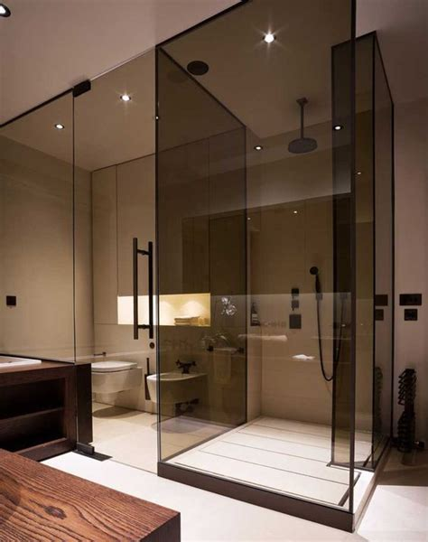 smoked glass shower doors 15 edgy ways to use smoked glass in home decor shelterness