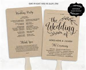 wedding program free template 25 best ideas about fan wedding programs on