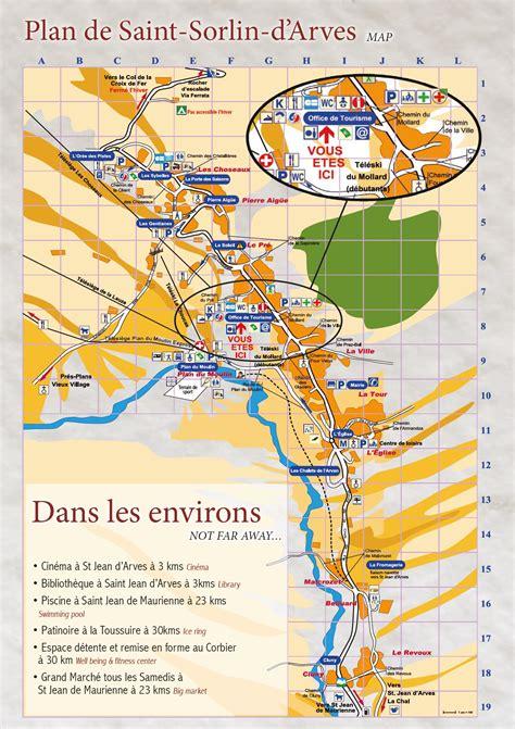 office du tourisme sorlin d arves plan du de sorlin d arves station de ski