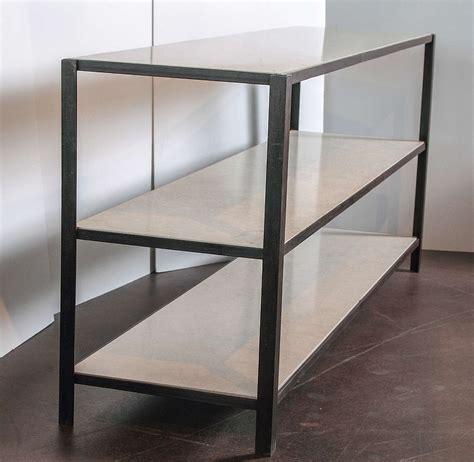 Limestone Shelf by Iron And Limestone Three Shelf Server At 1stdibs