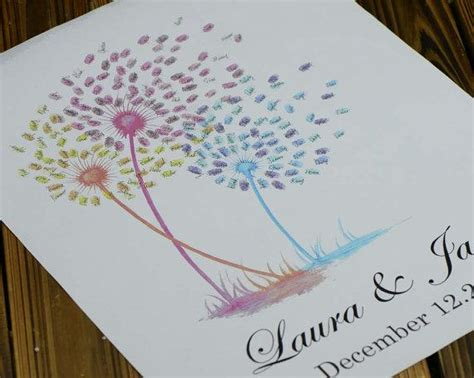 fireworks thumb print guest book wedding guest book