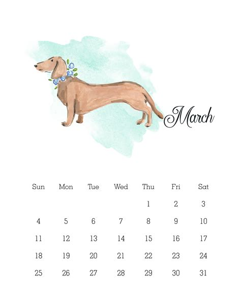 printable calendar 2015 dogs free printable 2018 watercolor dog calendar the cottage