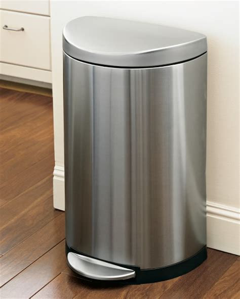 Online Kitchen Design Program simplehuman stainless steel semi round step trash can