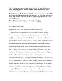 Sample Of Business Report Writing Business Report Writing
