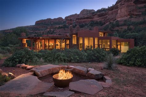 fire pit glass rocks Exterior Southwestern with desert