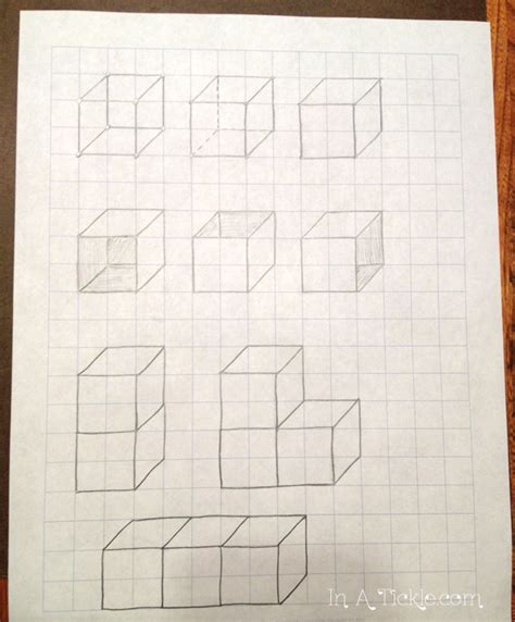 How To Make A 3d Cube On Paper - drawing 3d cubes draw with me wednesday in a tickle