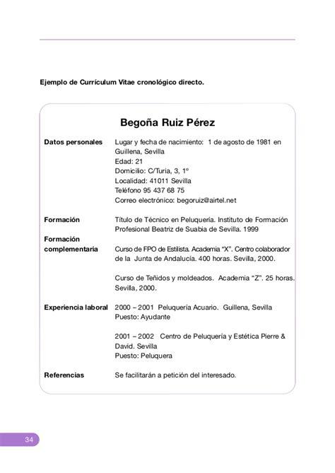 Ejemplo De Curriculum Primer Trabajo Desarrollo De Habilidades Personales El Curriculum Vitae