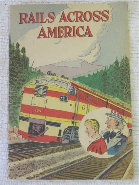 amtrak across america an illustrated history books vintage rails across america comic educational railroad c