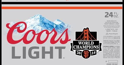 who owns coors light coors light san francisco giants world chions 24oz