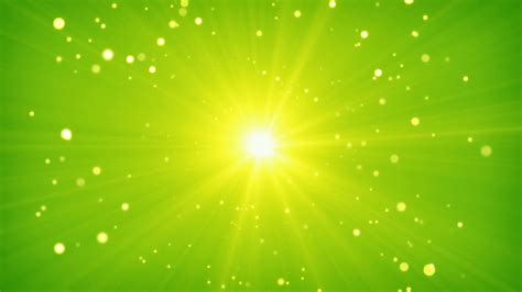 yellow green light green yellow light and particles loop background motion