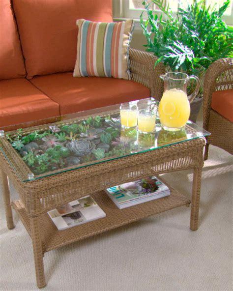 Martha Stewart Coffee Table Transform A Table Into A Terrarium Martha Stewart