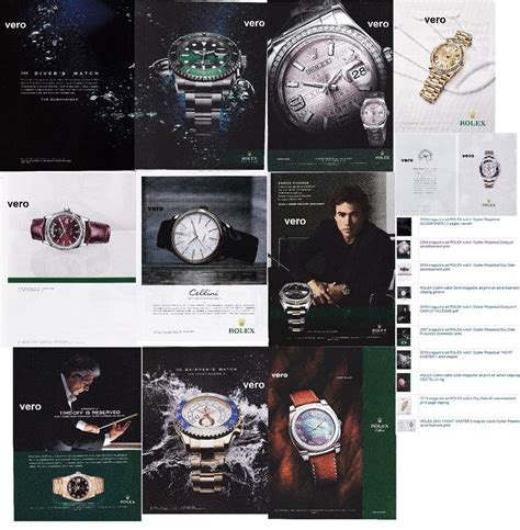 rolex ads 2015 rolex lot of 10 magazine ad print clipping page 2005