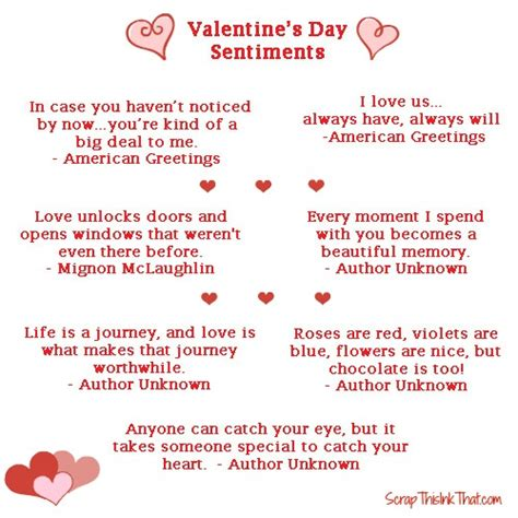 Valentines Sayings Cards