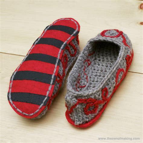 crochet slipper boots tutorial tutorial fancy felt soles for crocheted slippers